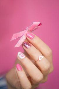 o laço cor de rosa